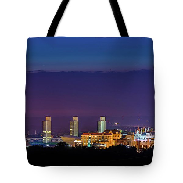 Albany Skyline Twilight Tote Bag