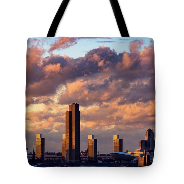 Albany Sunset Skyline Tote Bag
