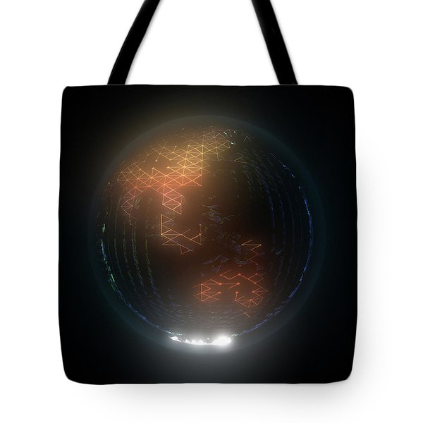 Albedo - Asia And Australasia By Night Tote Bag