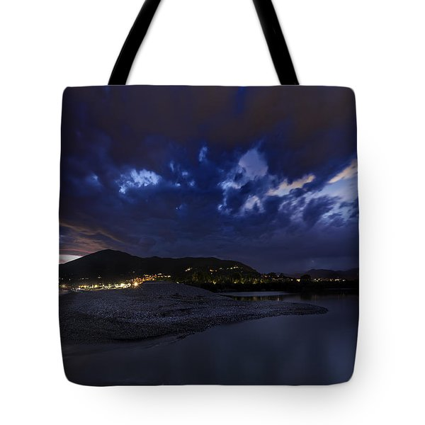 Albenga Alassio Coast Sunset With Clouds... Tote Bag