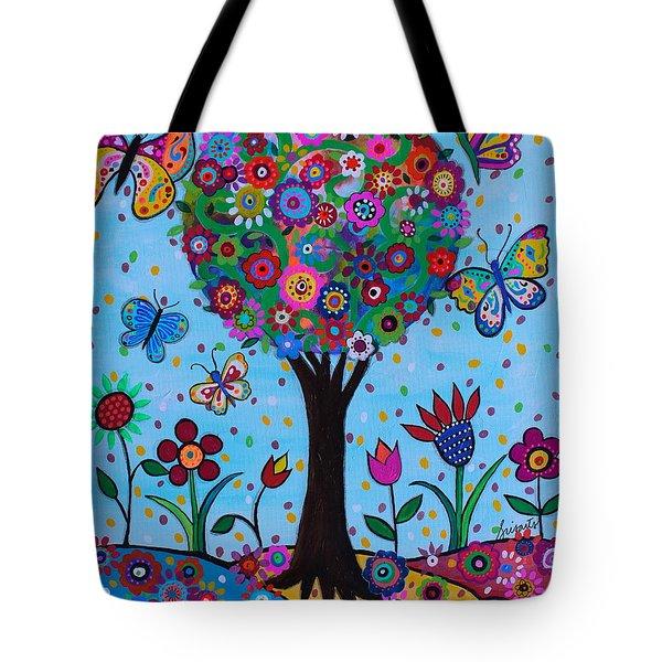 Tote Bag featuring the painting Albero Della Vita by Pristine Cartera Turkus