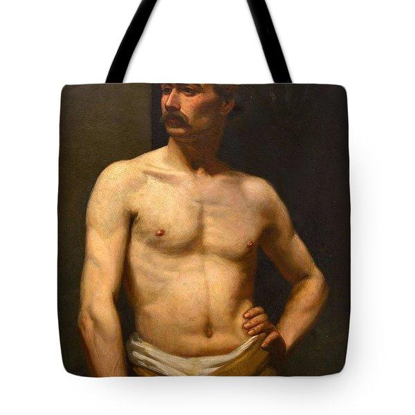 Albert Edelfelt Male Model Tote Bag