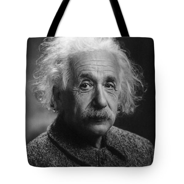 Albert Einstein, 1947. Age 68. Tote Bag