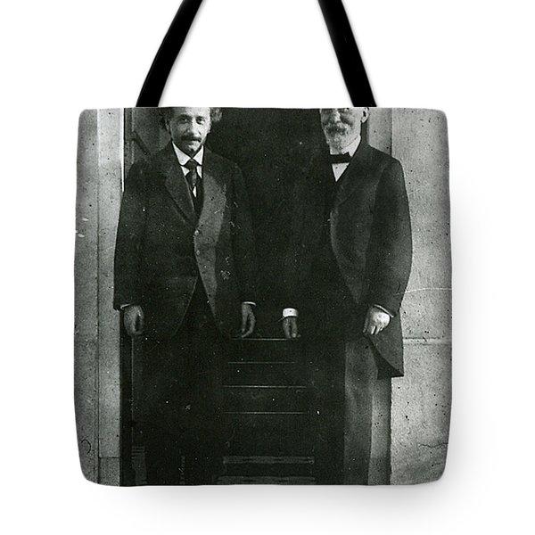 Albert Einstein And Hendrik Antoon Lorentz Tote Bag