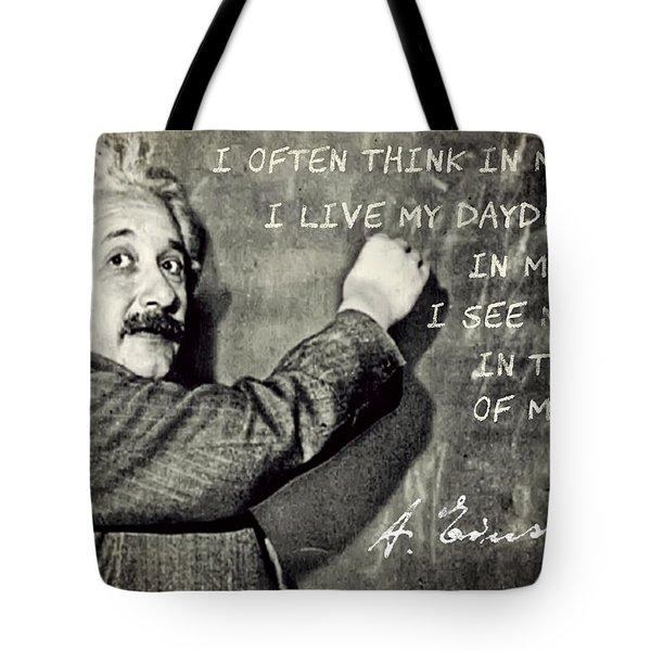 Albert Einstein, Physicist Who Loved Music Tote Bag