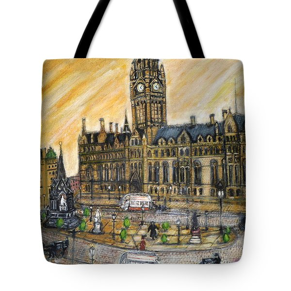 Albert Square Manchester 1900 Tote Bag
