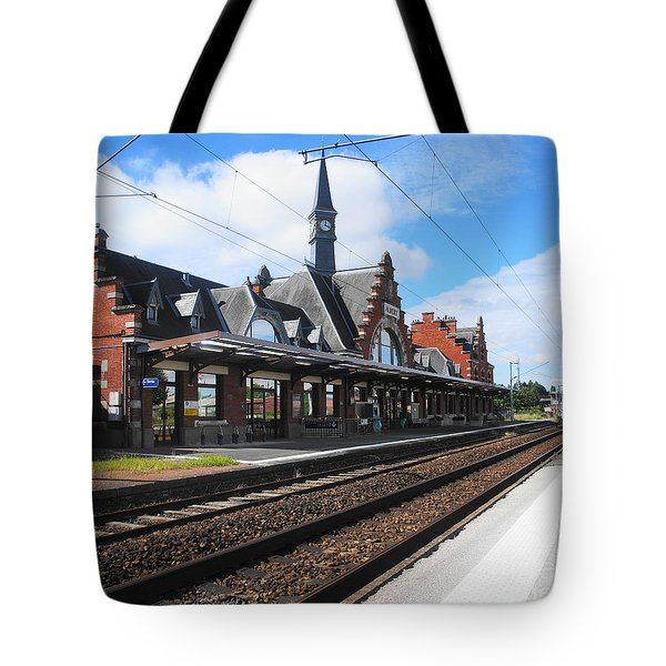 Tote Bag featuring the photograph Albert Train Station, France by Therese Alcorn