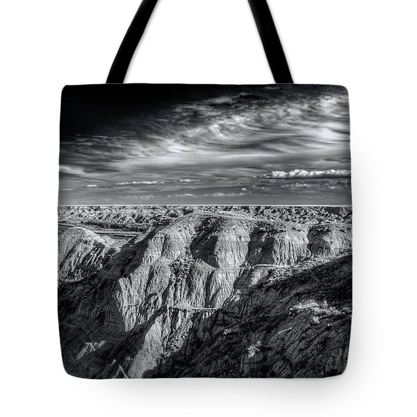 Tote Bag featuring the photograph Alberta Badlands by Wayne Sherriff