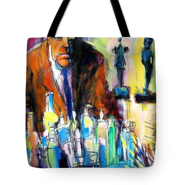 Tote Bag featuring the painting Alberto by Les Leffingwell