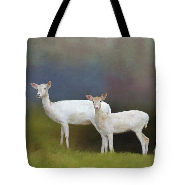 Albino Deer Tote Bag