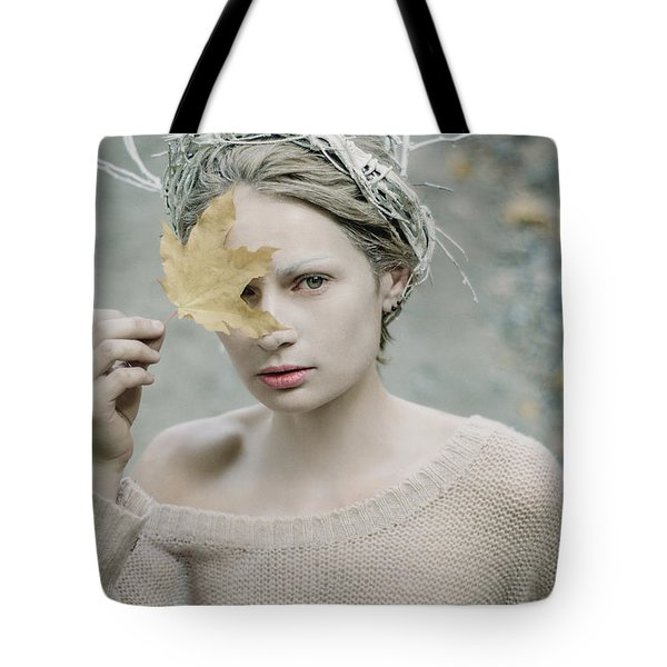 Albino In Forest. Prickle Tenderness Tote Bag