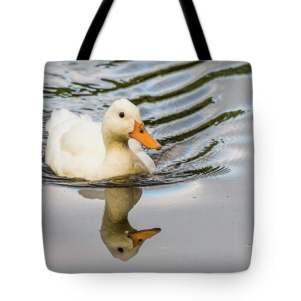 Albino Mallard Tote Bag