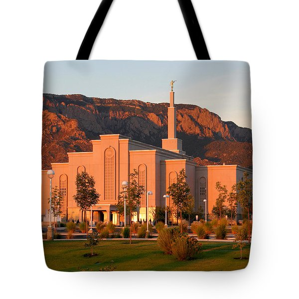 Albuquerque Lds Temple At Sunset 1 Tote Bag
