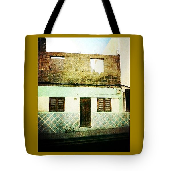 Tote Bag featuring the photograph Alcala Blue House No1 by Anne Kotan