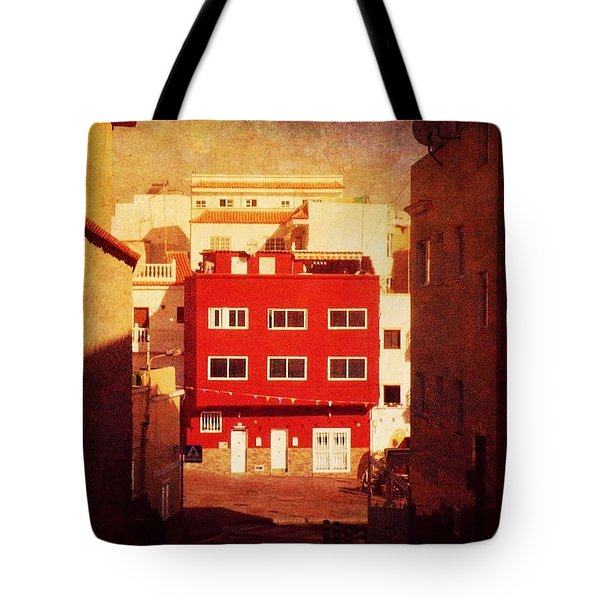 Tote Bag featuring the photograph Alcala Red House No1 by Anne Kotan