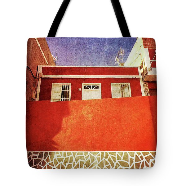 Tote Bag featuring the photograph Alcala Red House No2 by Anne Kotan