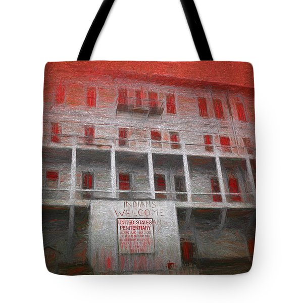 Alcatraz Federal Penitentiary Tote Bag by Michael Cleere