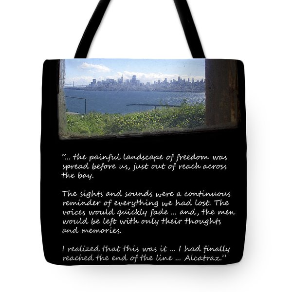 Alcatraz Reality - The Painful Landscape Of Freedom Tote Bag by Daniel Hagerman
