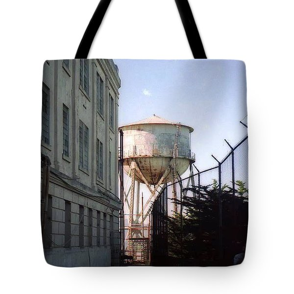Alcatraz Water Tank  Tote Bag