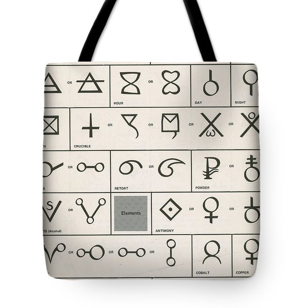 Alchemy Symbols Tote Bag by Science Source