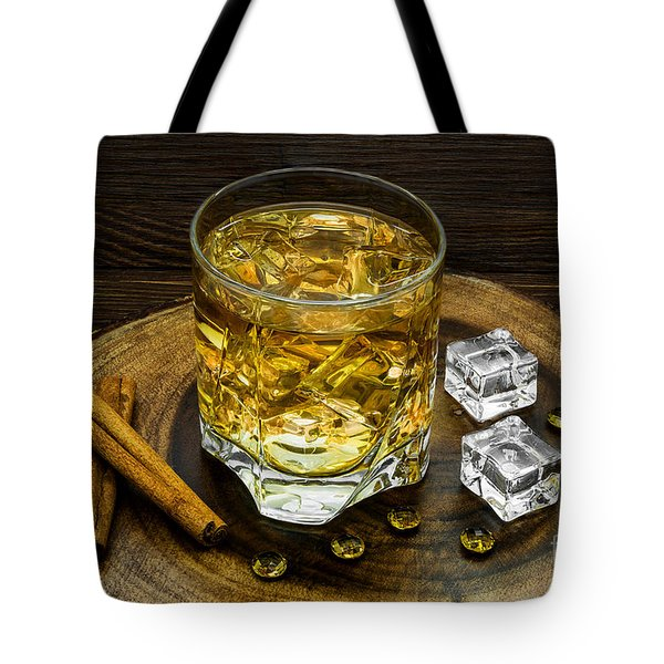 Alcoholic Beverage With Cinnamon And Ice Tote Bag