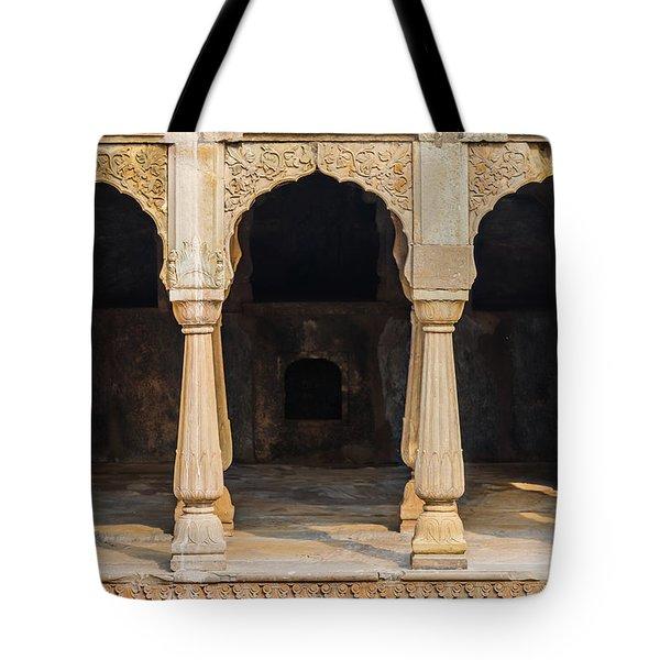 Alcoves At Chand Baori Stepwell Tote Bag