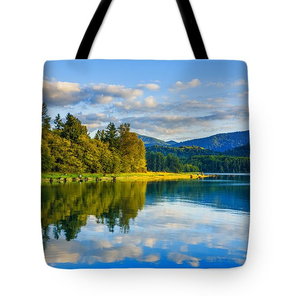 Alder Lake Reflection Tote Bag