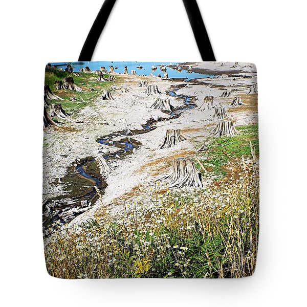 Alder Lake Stumps Tote Bag by Joseph Hendrix