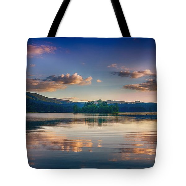 Alder Lake Sunset Tote Bag