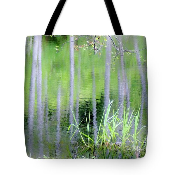 Alder Reflections Tote Bag by Sheila Ping