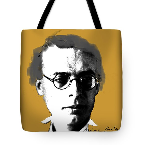 Tote Bag featuring the digital art Aldous Huxley by Asok Mukhopadhyay