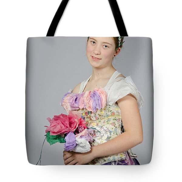 Alegra In Paper Floral Dress Tote Bag