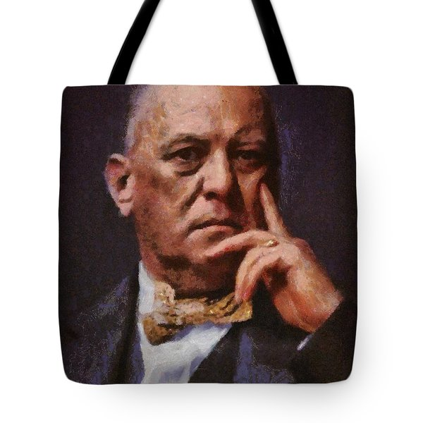 Aleister Crowley, Infamous Occultist Tote Bag