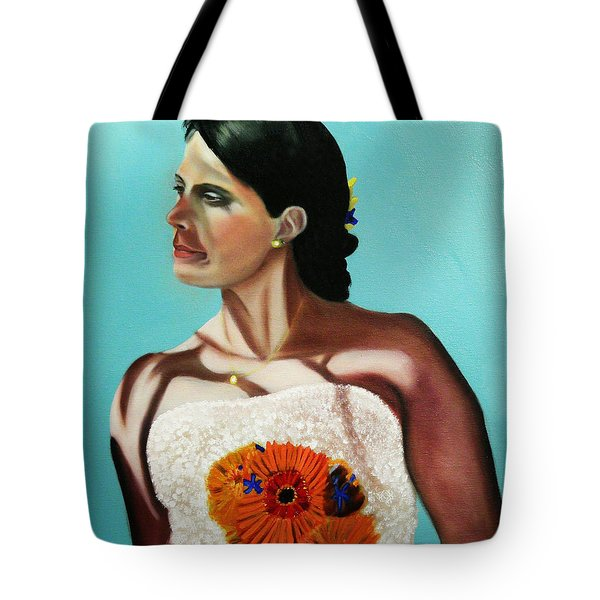 Alena On Her Wedding Day Tote Bag