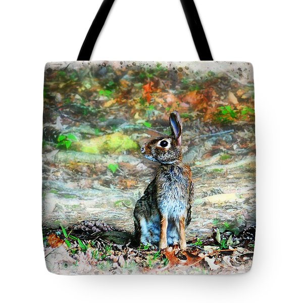 Alert Cottontail Tote Bag
