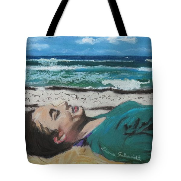 Granddaughter Alex At A Gulf Coast Beach, Florida Tote Bag