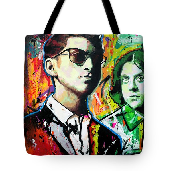 Tote Bag featuring the painting Alex Turner by Richard Day