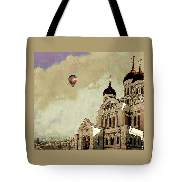 Alexander Nevsky Cathedral In Tallin, Estonia, My Memory. Tote Bag by Jeff Burgess