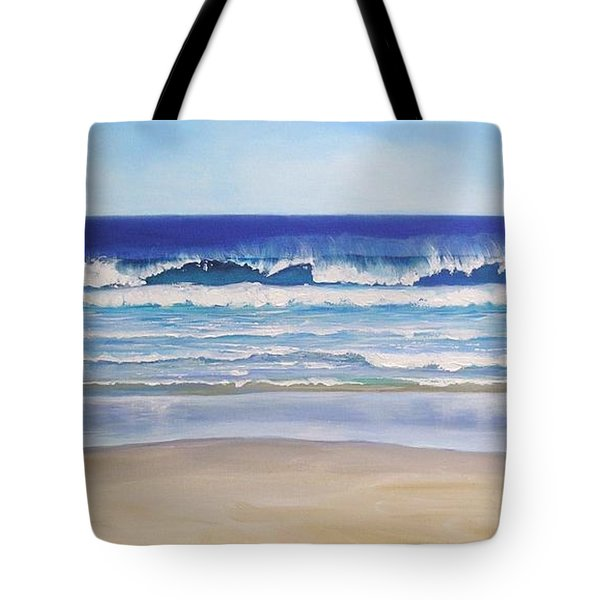 Tote Bag featuring the painting Alexandra Bay Noosa Heads Queensland Australia by Chris Hobel