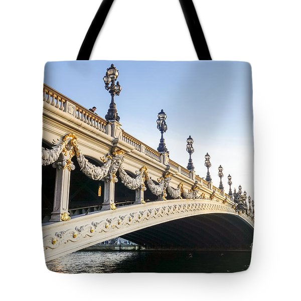 Alexandre IIi Bridge In Paris France Early Morning Tote Bag
