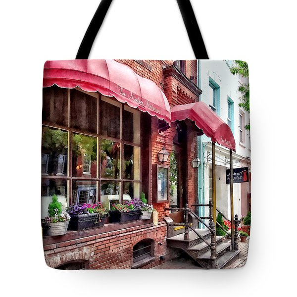 Alexandria Va - Red Awnings On King Street Tote Bag