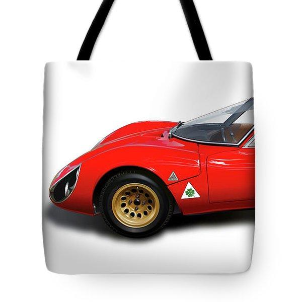 Alfa Romeo 33 Stradale 1967 Tote Bag by Alain Jamar