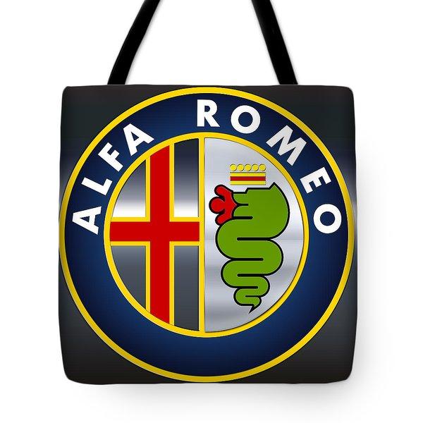 Alfa Romeo Logo Tote Bag