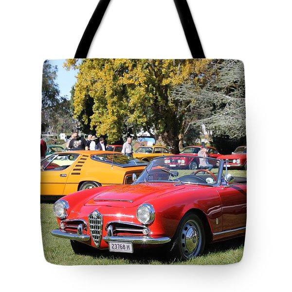 Alfa Romeo Giulia Spider Veloce Tote Bag