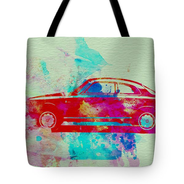 Alfa Romeo  Watercolor 2 Tote Bag by Naxart Studio