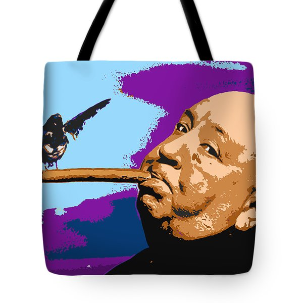 Alfred Hitchcock Tote Bag by John Keaton