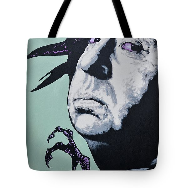 Alfred Hitchcock Tote Bag by Victor Minca