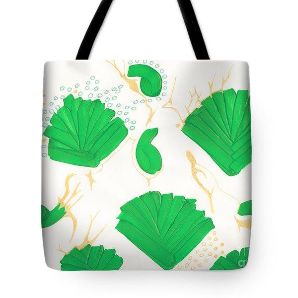 Algae Blooms Tote Bag by Mary Mikawoz