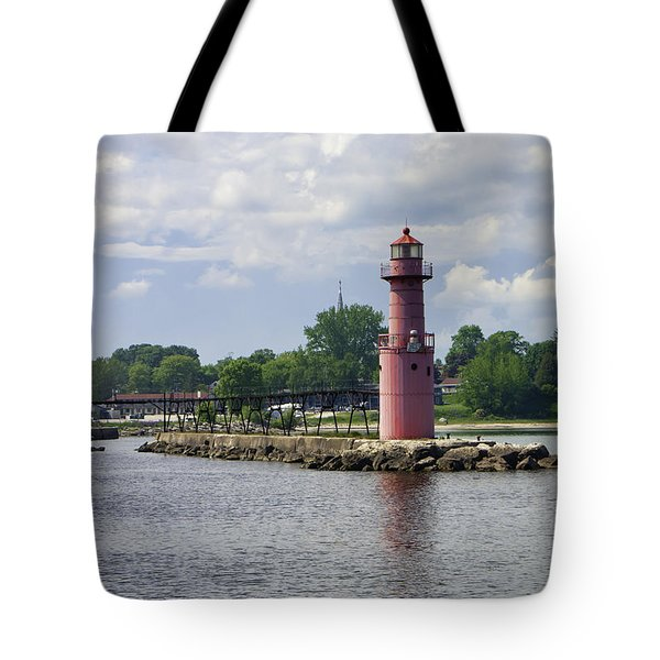 Algoma Pierhead Light Tote Bag
