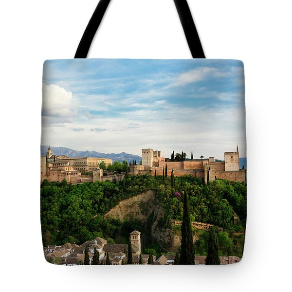 Alhambra In The Evening Tote Bag